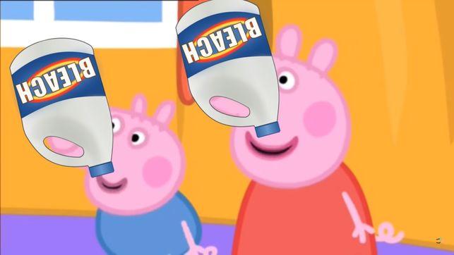 Peppa Pig dandole lejia