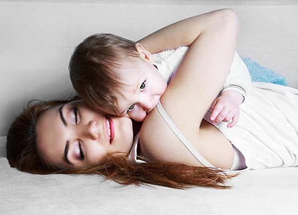mama y su bebe